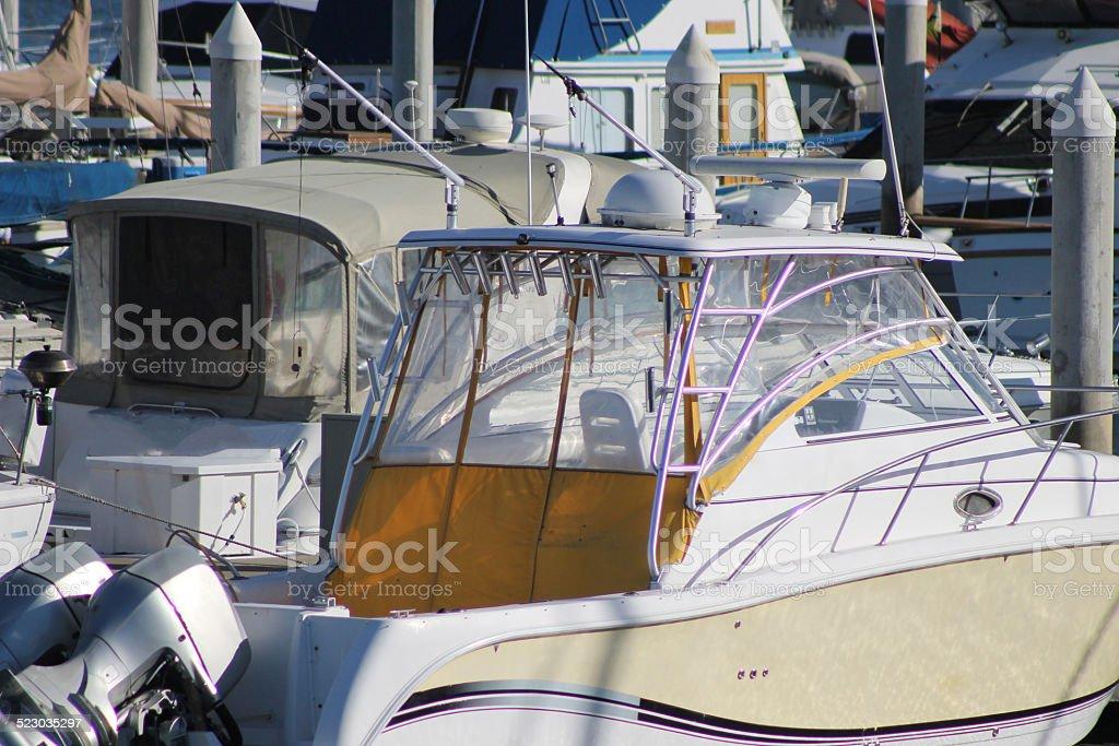 Boats in Marina stock photo
