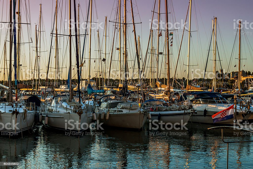 Barche a marina foto stock royalty-free
