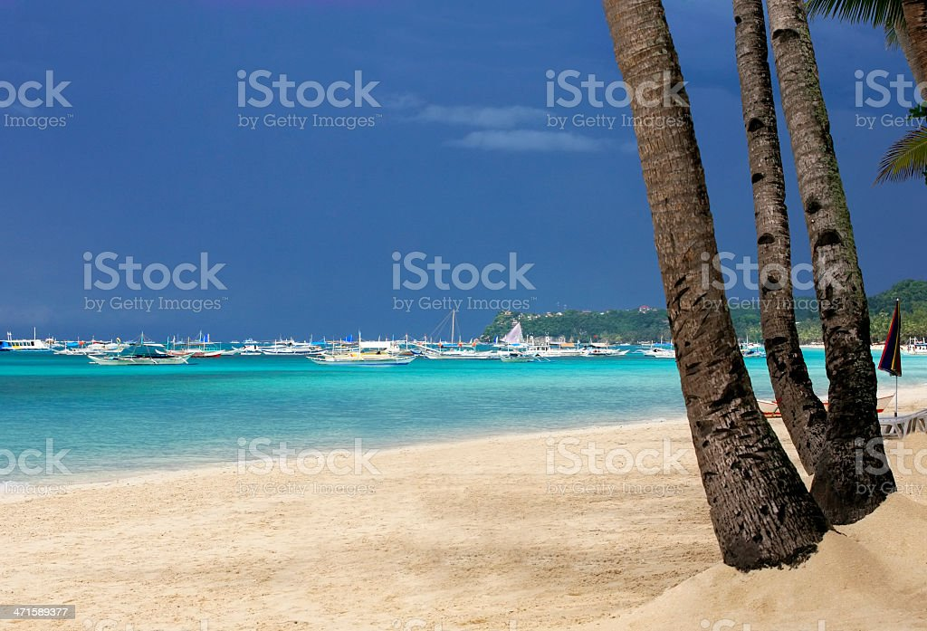 Boats in ocean royalty-free stock photo