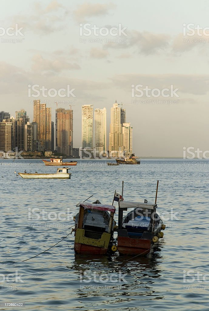 Boats in Panama harbour royalty-free stock photo