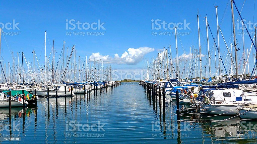 Embarcaciones en el puerto de Bild foto de stock libre de derechos