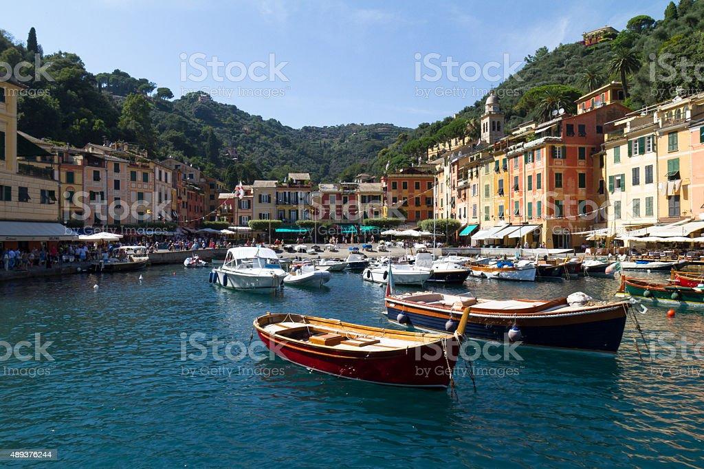 Imbarcazioni in porto di materiale, Italia foto stock royalty-free