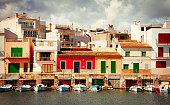 Boats in Porto colom town at Mallorca