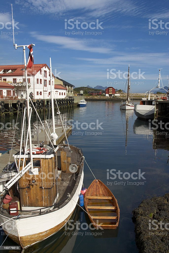 Boats in safe port stock photo