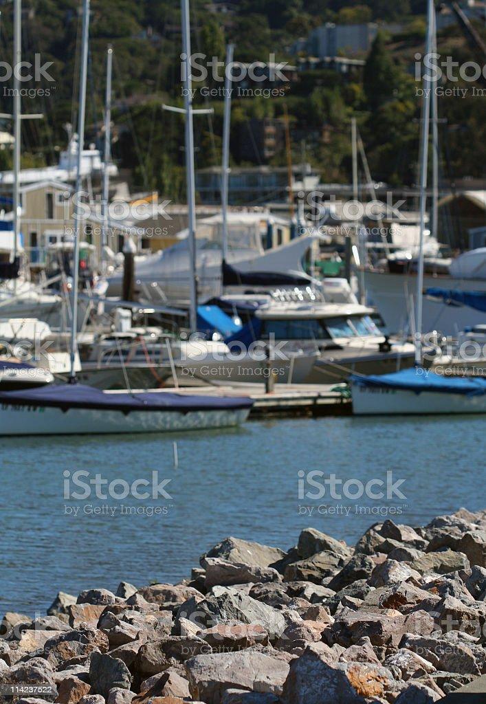Boats in sausalito, california stock photo