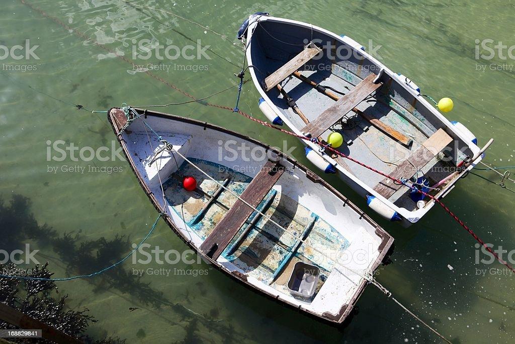St Ives に浮かぶボート ロイヤリティフリーストックフォト