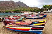 Boats in Tarrafal Beach