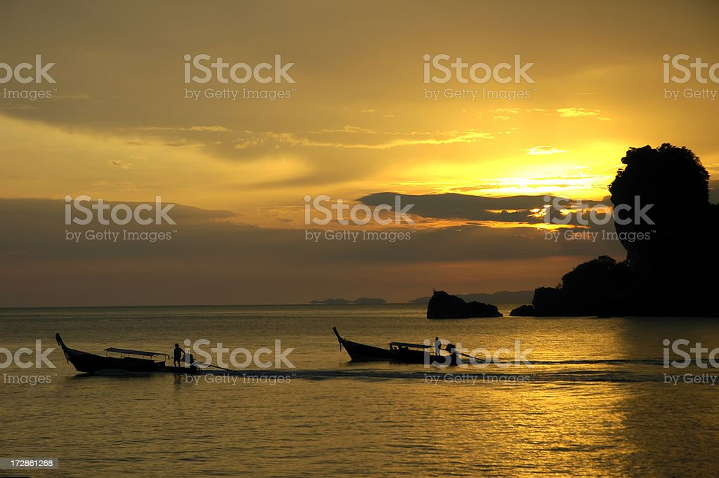 Boats in Thailand royalty-free stock photo