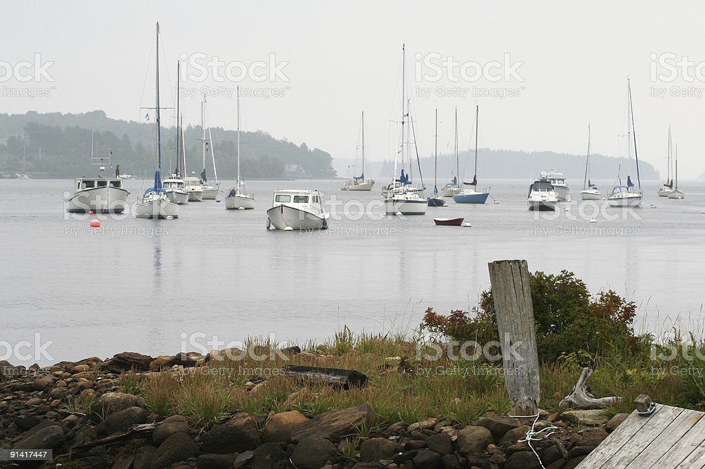 Boats In The Bay royalty-free stock photo