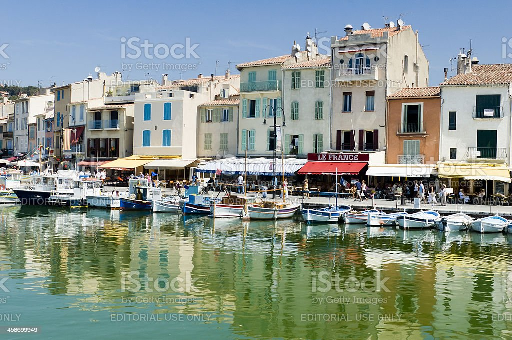 Boats in the coastal Village of Cassis, France royalty-free stock photo