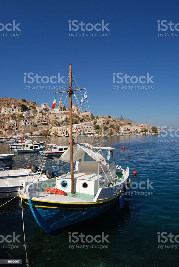 Boats in the harbour royalty-free stock photo