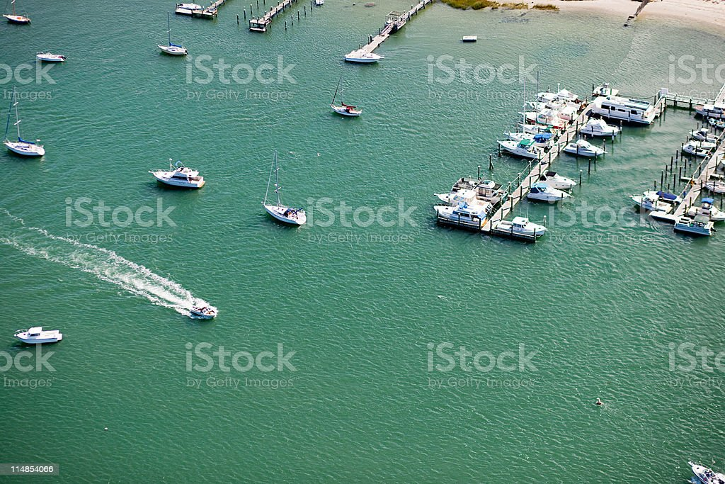 Boats in the water, Newport County, Rhode Island, USA stock photo