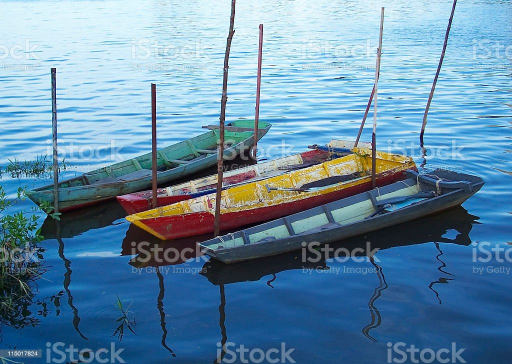 Boats In The Water stock photo