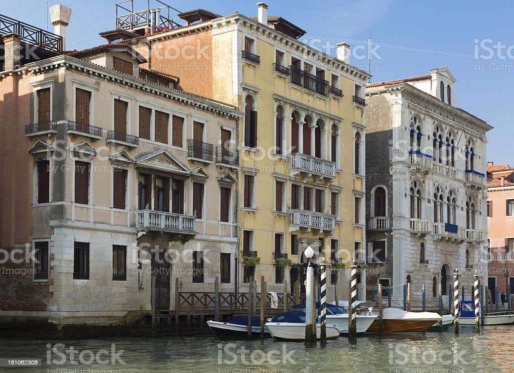boats in Venice royalty-free stock photo