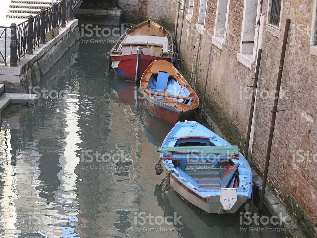 Boats in Venice royalty-free stock photo