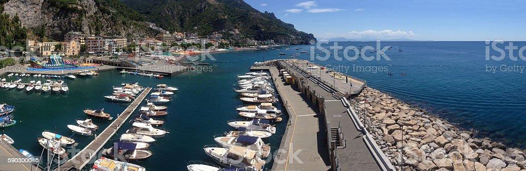 Boats moor stock photo