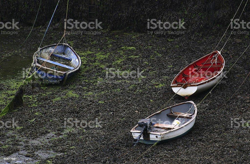 Boats Moored Up royalty-free stock photo
