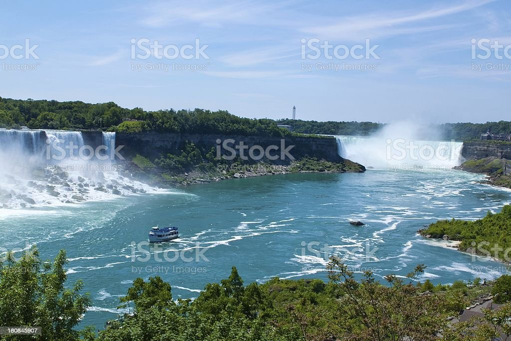 Boats near Niagara Falls Canada stock photo