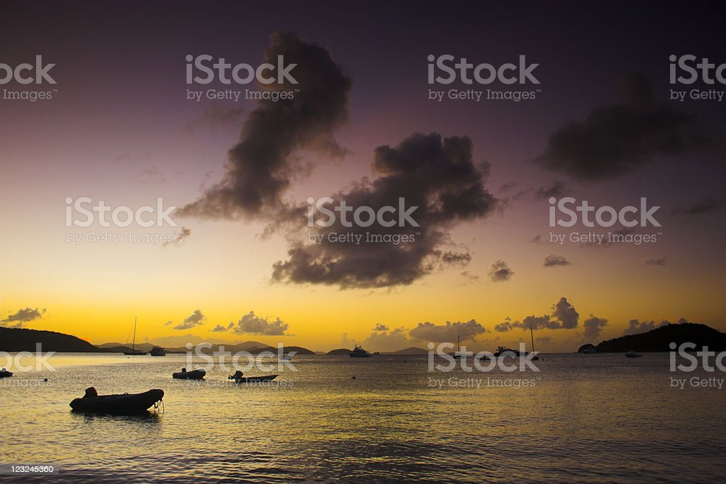 Boats near the shore royalty-free stock photo