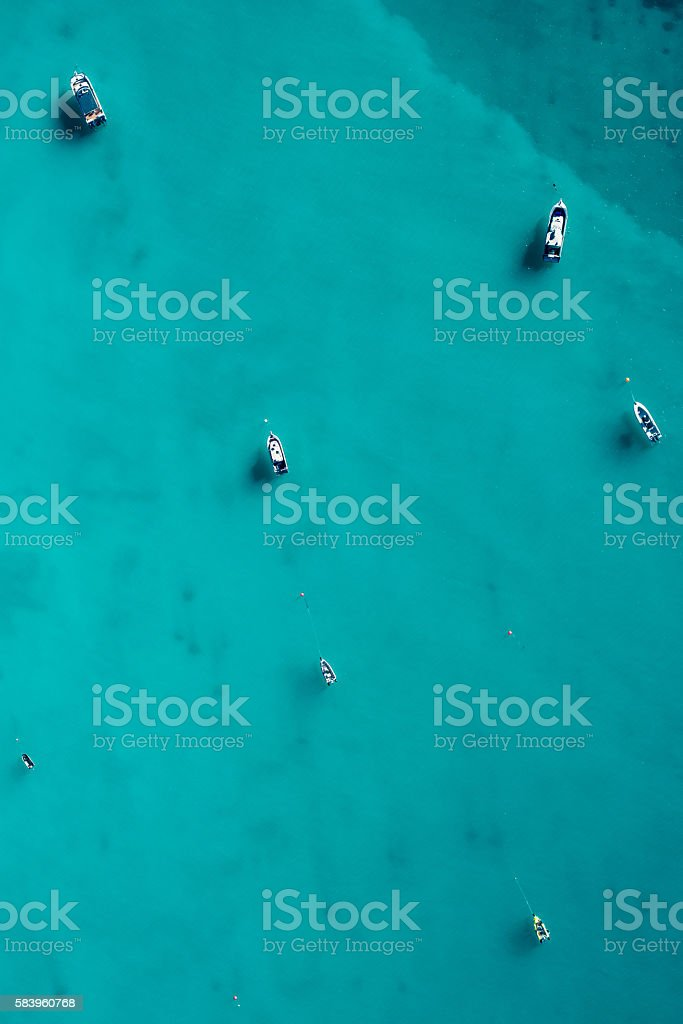 Boats of Cable Beach stock photo