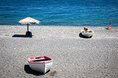Boats on a Beach in Sicily
