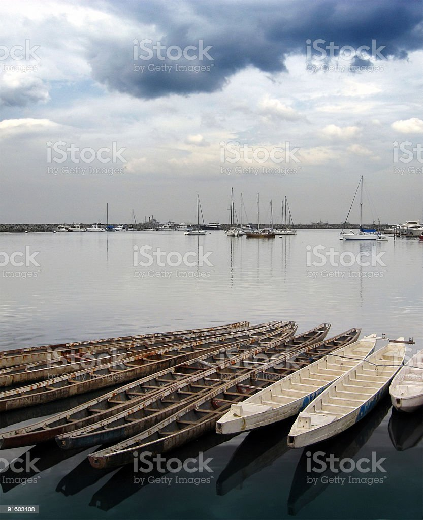 Boats on calm water royalty-free stock photo