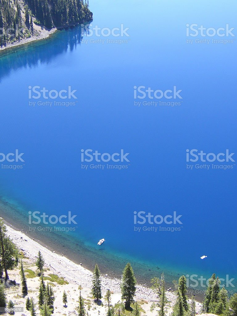 Boats on Crater Lake royalty-free stock photo