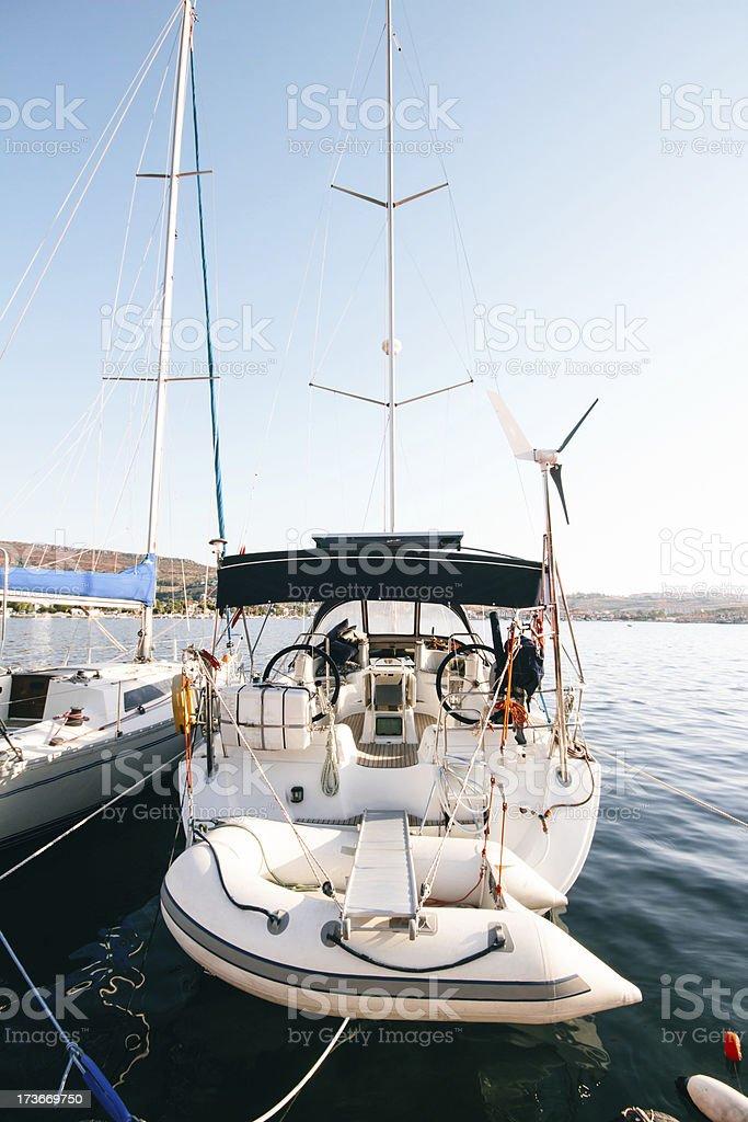 Boats on Harbor royalty-free stock photo