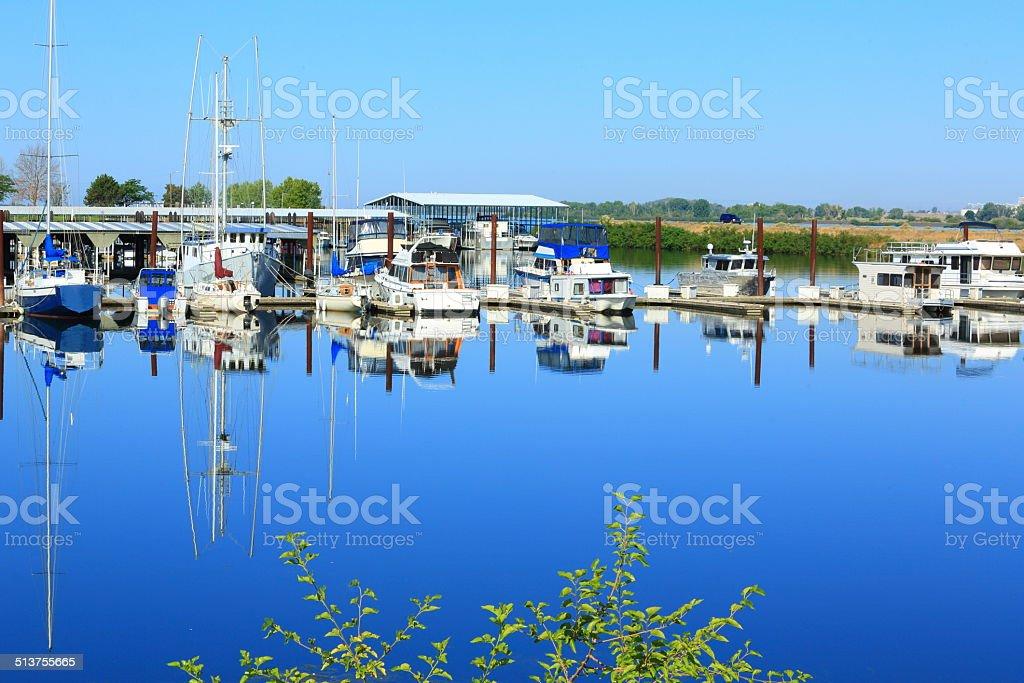 Boats on Mirror stock photo