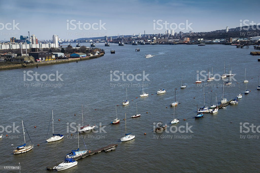 Boats on Thames royalty-free stock photo