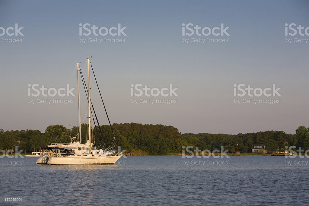 Boats on the Chester River stock photo
