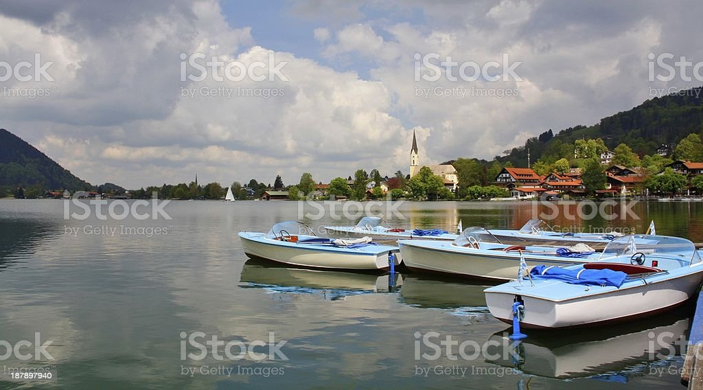 Boats on the lake royalty-free stock photo