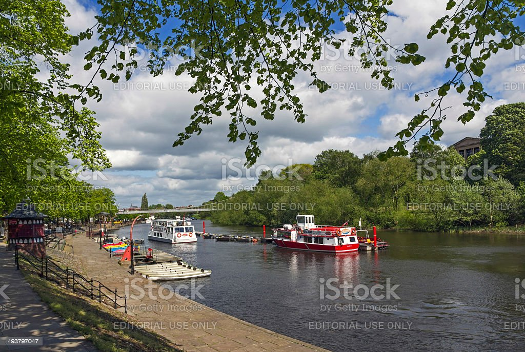 Boats On The River Dee Chester royalty-free stock photo