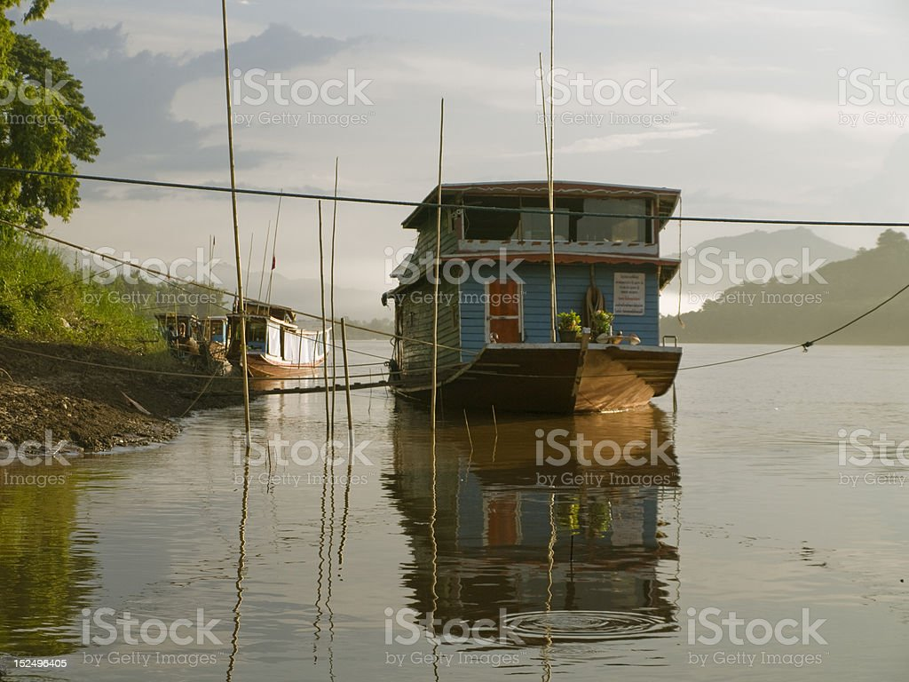 boats on the river royalty-free stock photo