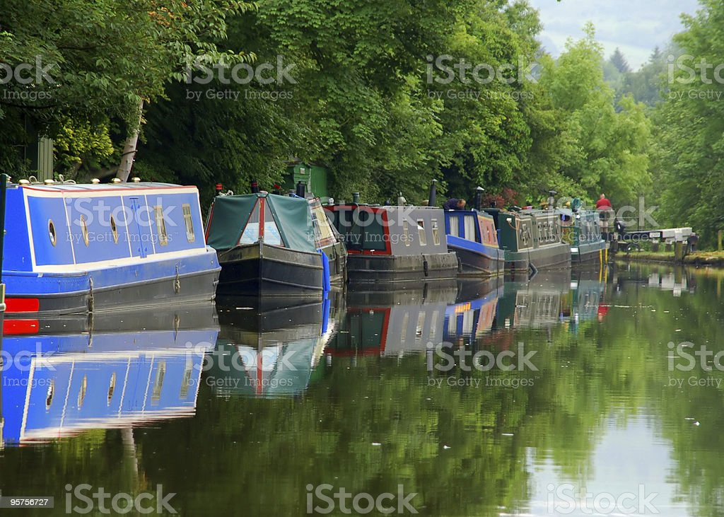 Boats on the river stock photo