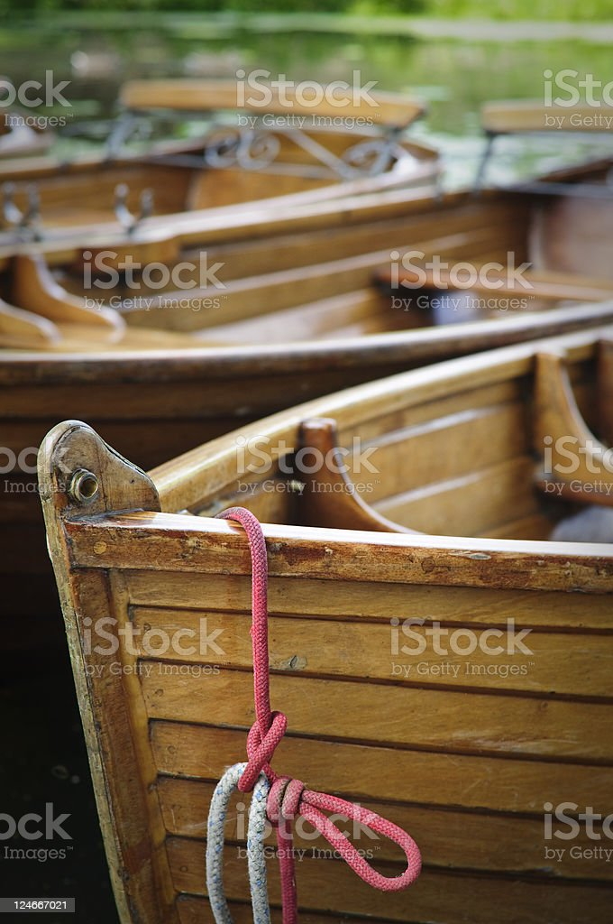 Boats on the river Stour, Dedham Vale, UK stock photo