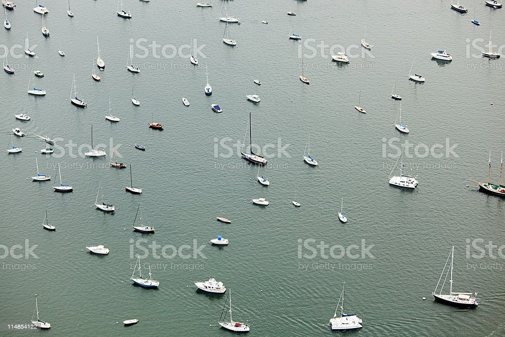 Boats on the water, Newport County, Rhode Island, USA stock photo