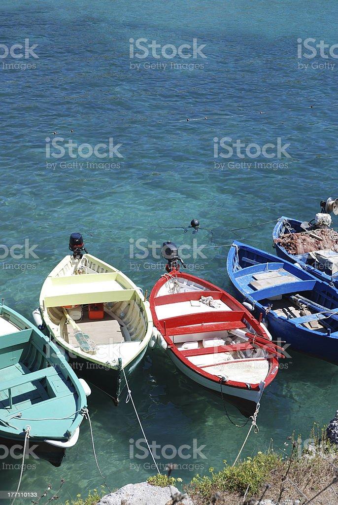 boats on the water stock photo
