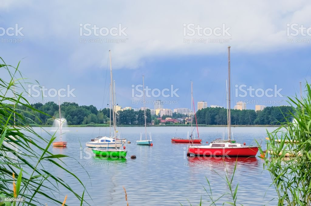Boats on the water. stock photo