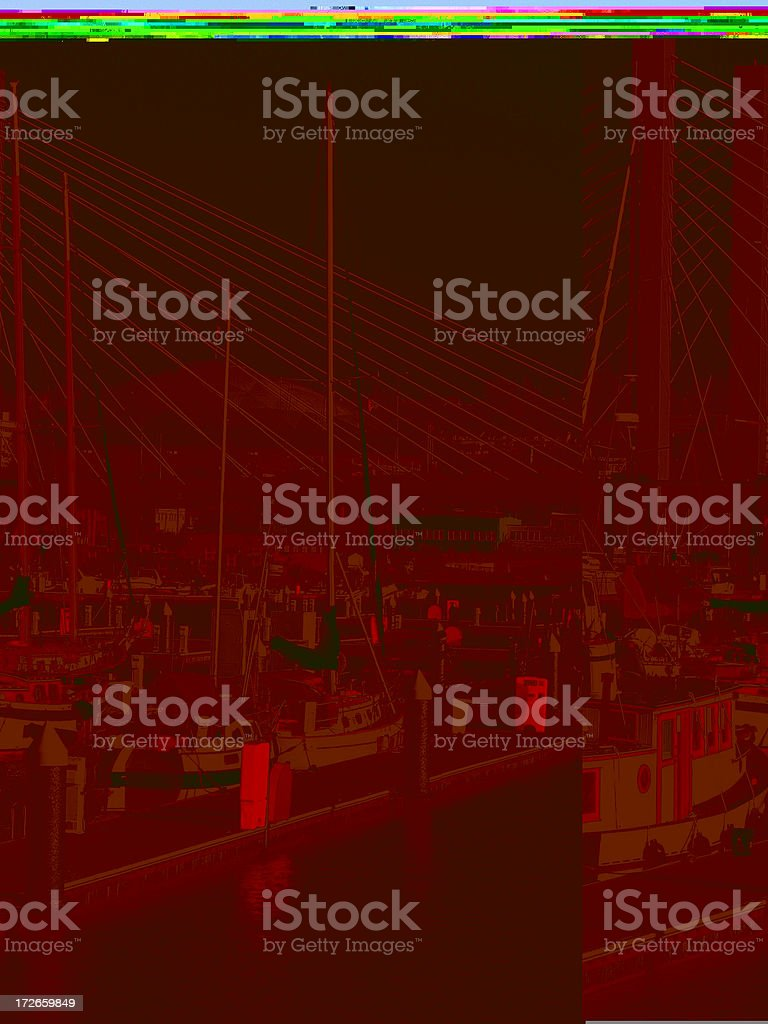 Boats on the waterway royalty-free stock photo