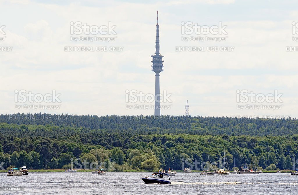 Boats on Wannsee (Berlin - Germany) royalty-free stock photo
