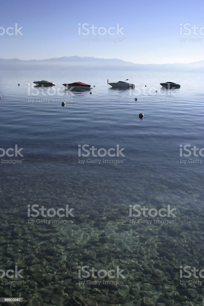 Boats on Water stock photo