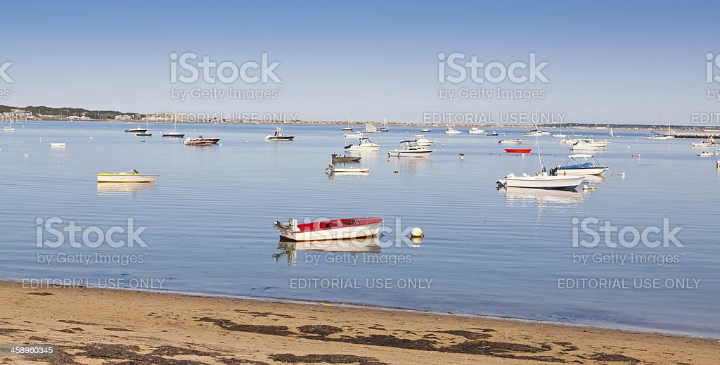 Boats parked at harbor, Provincetown, Cape Cod, Ma royalty-free stock photo