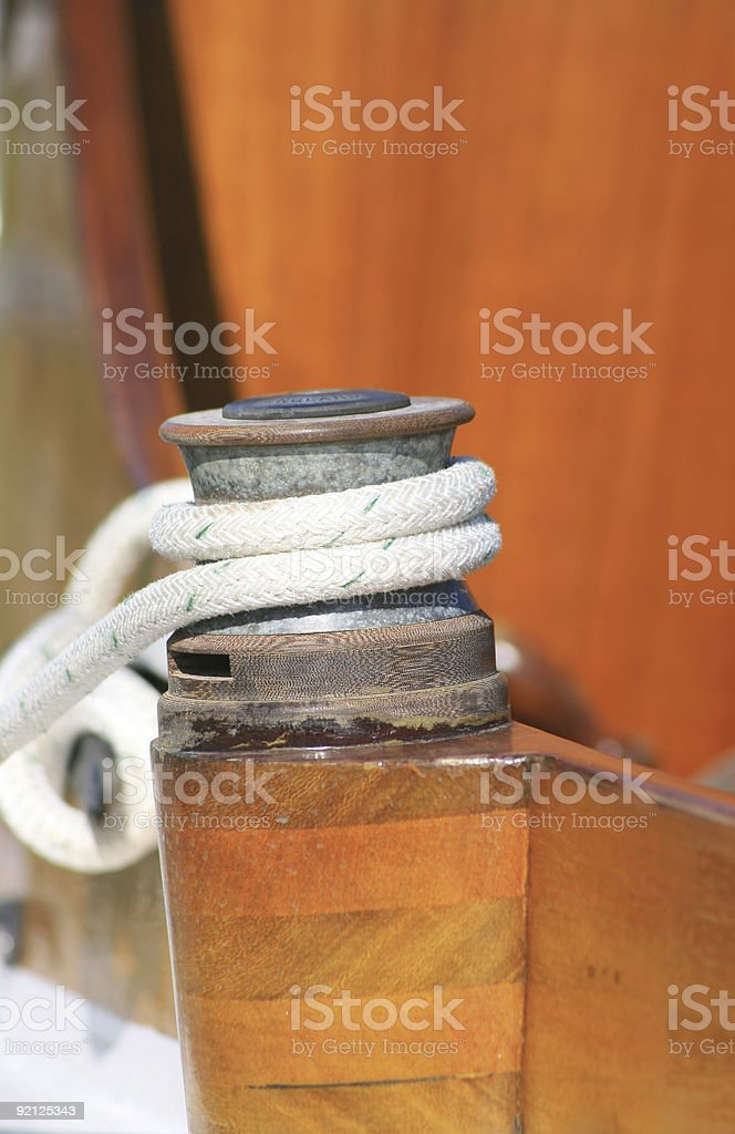 Boats rope royalty-free stock photo