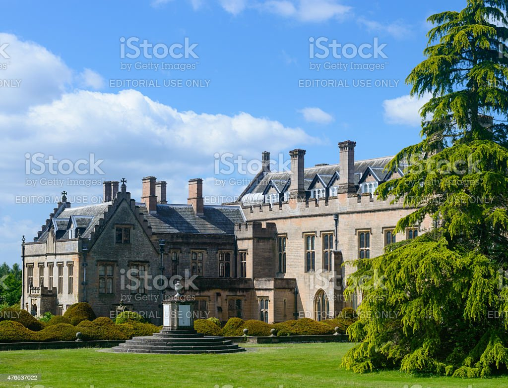 Boatswain's monument and Newstead Abbey stock photo