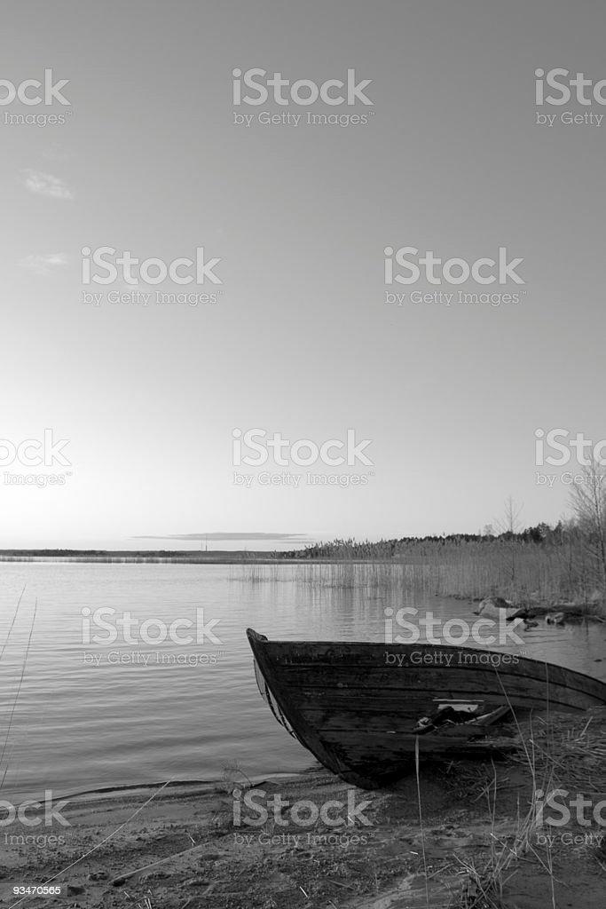 boatwreckage royalty-free stock photo