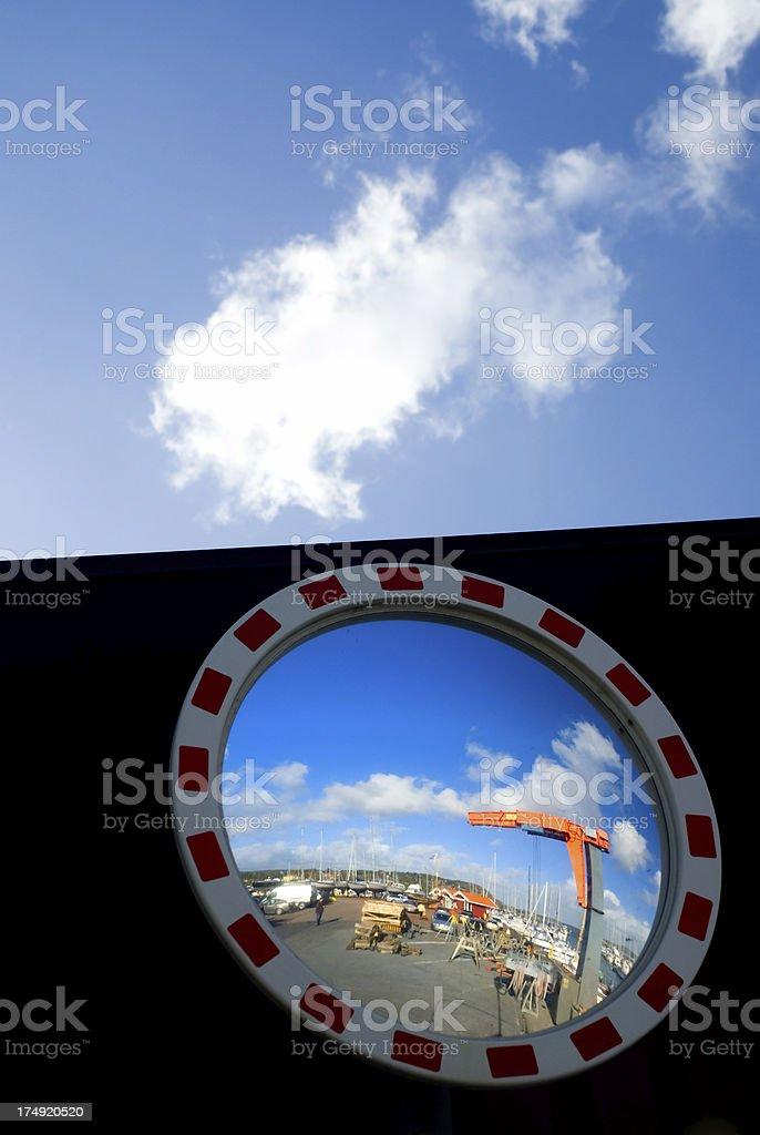 Boatyard stock photo