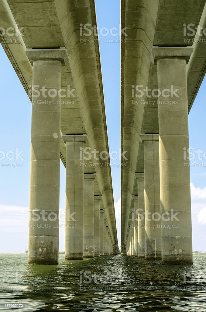 Bob Graham Sunshine Skyway Bridge Tampa Bay Florida royalty-free stock photo