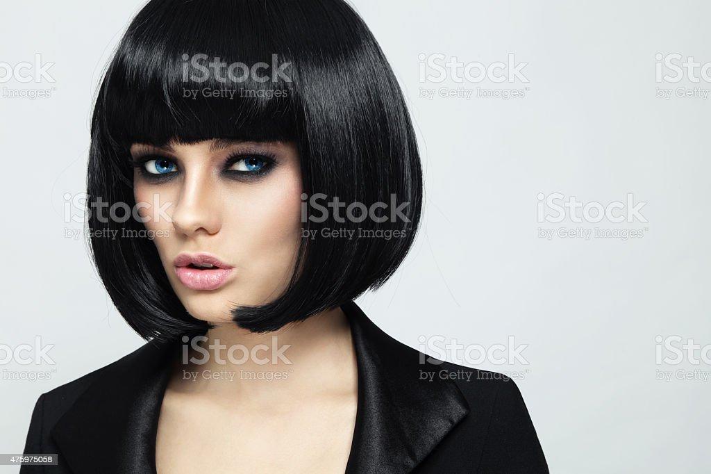 Bob haircut stock photo