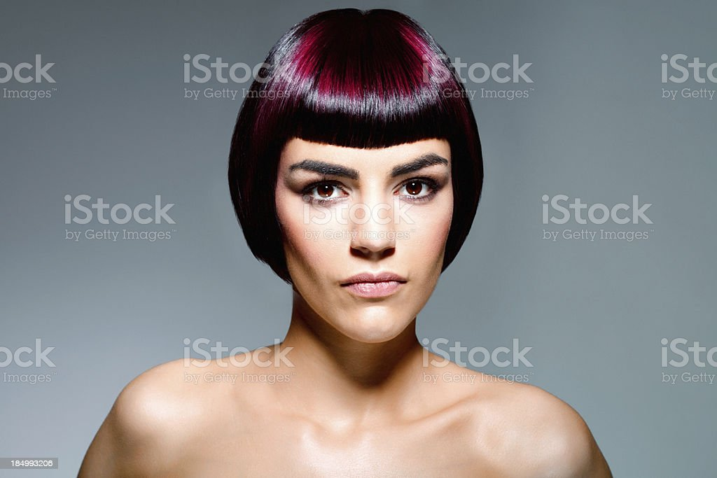 Bob hairstyle stock photo